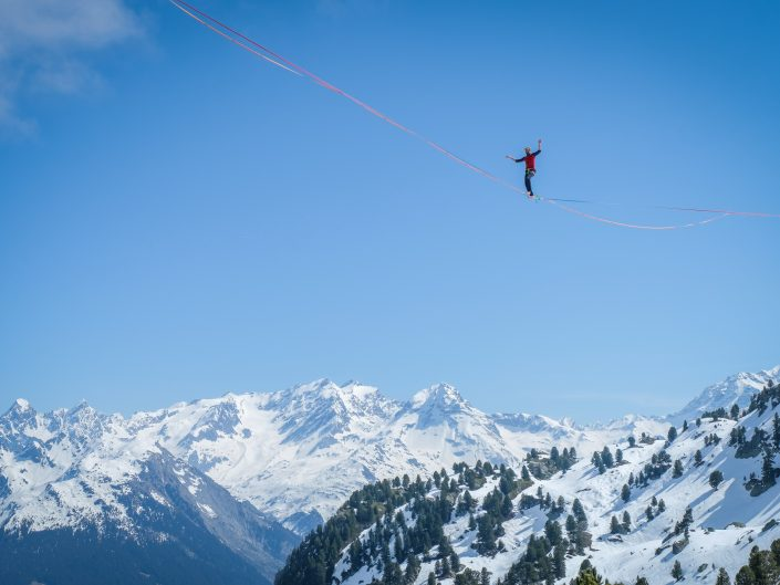 Winter paradise for tightrope walkers